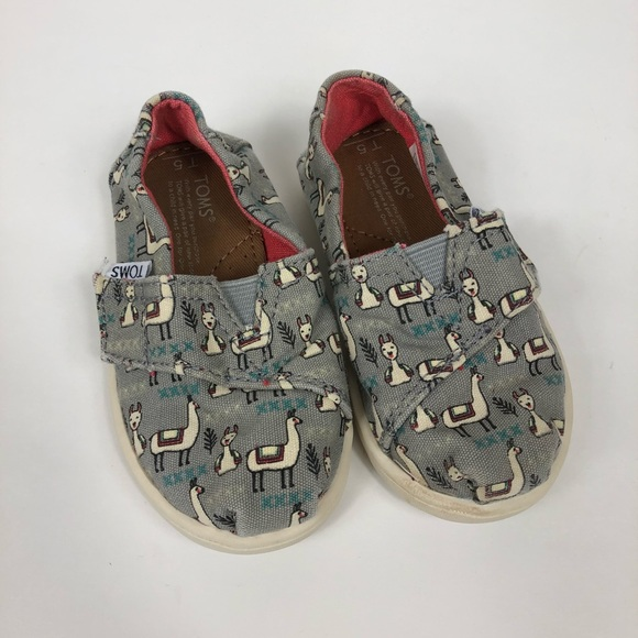 e22dab9e4 Toms Shoes | Tiny Llama Print Alpaca Toddler Baby 5 | Poshmark